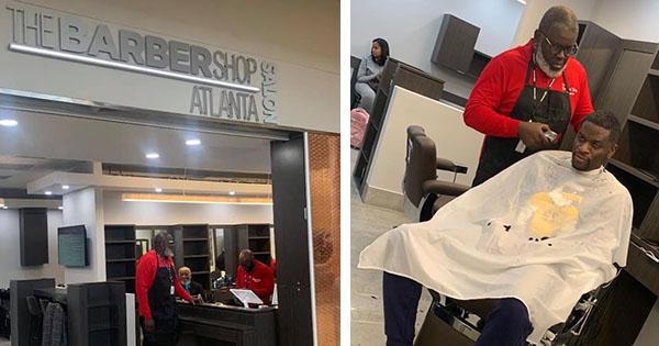 First Black-Owned Barbershop Inside Atlanta's International Airport
