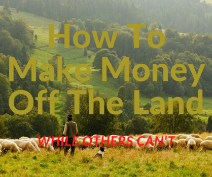 How To Make Money Off The Land