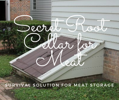Root Cellar For Meat